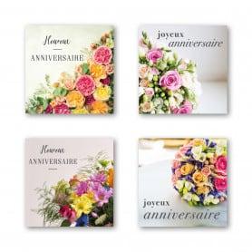 """Étiquette adhésive """"Anniversaire"""" - Florys"""