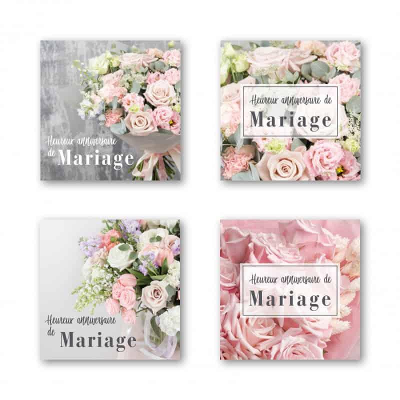 """Étiquette adhésive """"Heureux Anniversaire de Mariage"""" - Chloé"""