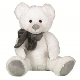 Peluche ours blanc nœud...