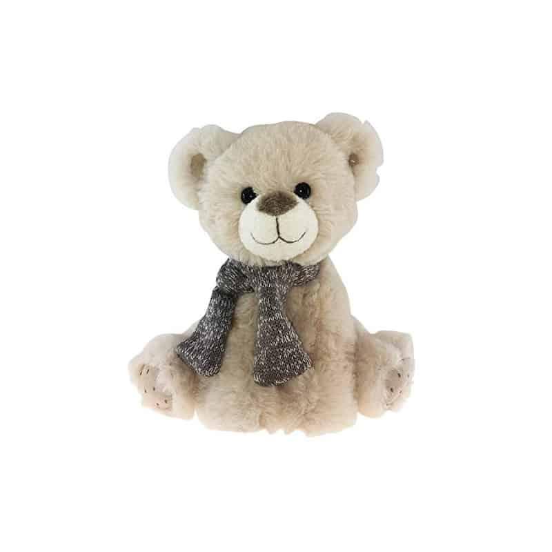 Peluche ours ecru Gusto - 35cm - grossiste fleuriste