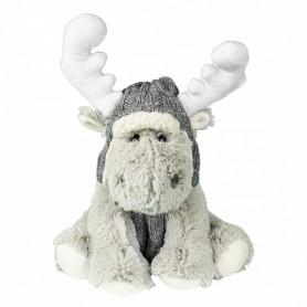 Peluche rennes gris Mila -...