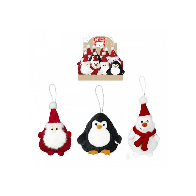 Peluches Père noël, Pingouin, Bonhomme de neige - H.15cm - grossiste noel