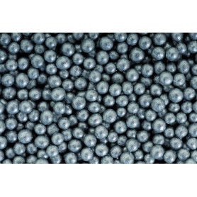 Perle verre métal  Argent