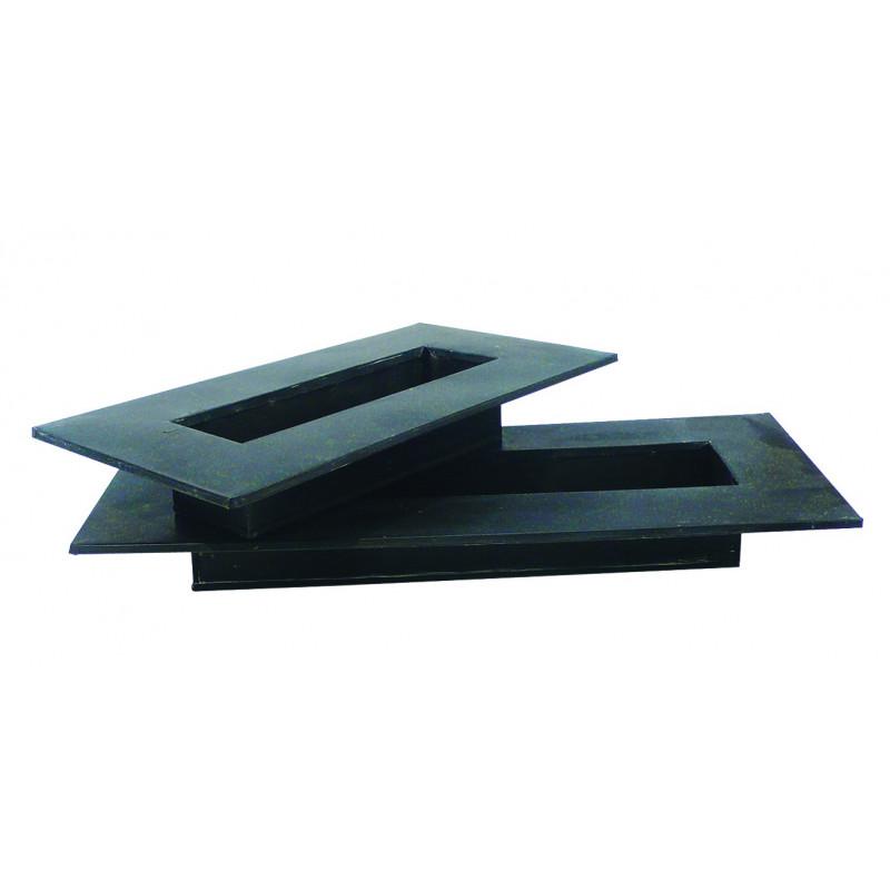 Plateau rectangle zinc noir