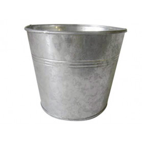 Pot rond zinc naturel