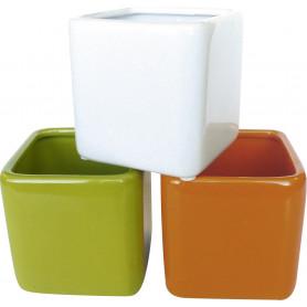 Pot carré céramique assortis