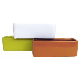 Coupe rectangle céramique assortis