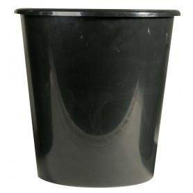 Seau conique noir plastique
