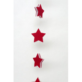 Guirlande étoile mousse