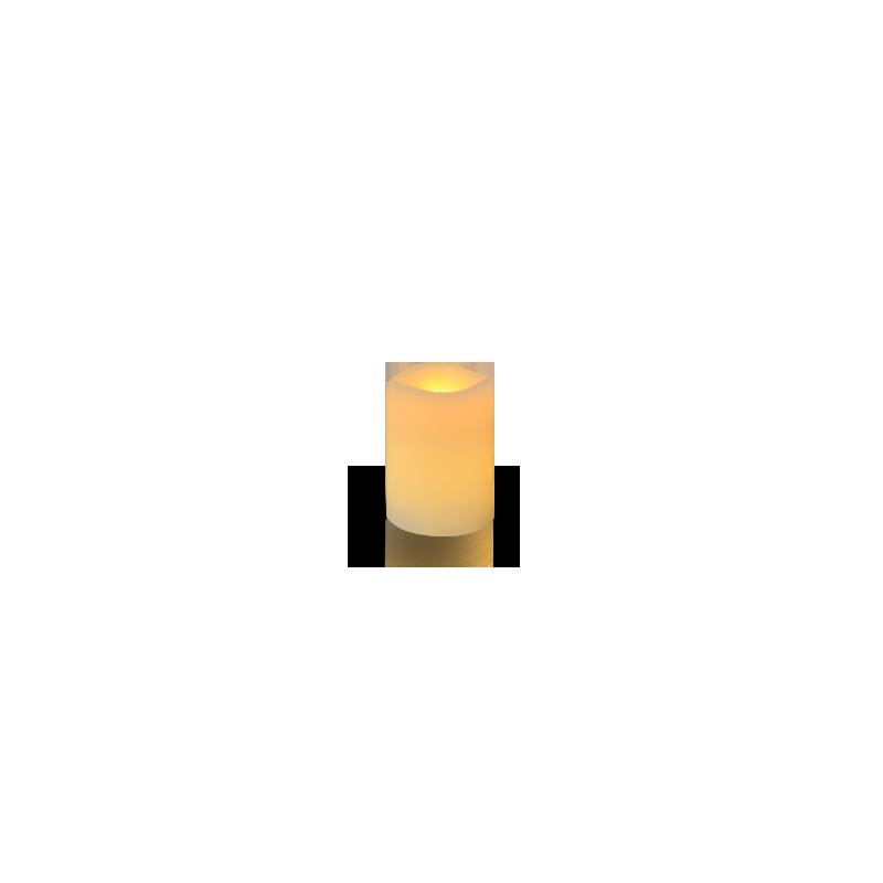 Bougie cylindre vague LED