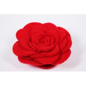 Rose rouge feutrine