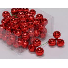 Boules de noël sur pics en verre multicoloris D. 30 mm