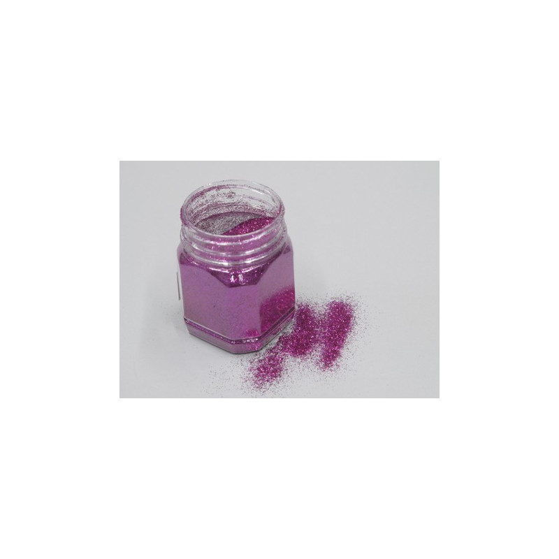 Pot paillettes décorative 115 g fuchsia décorative