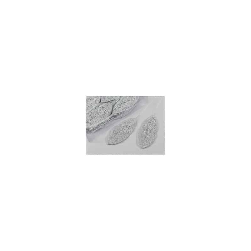 Feuille déco paillettes sur pic multicoloris L. 6 x H. 14 cm
