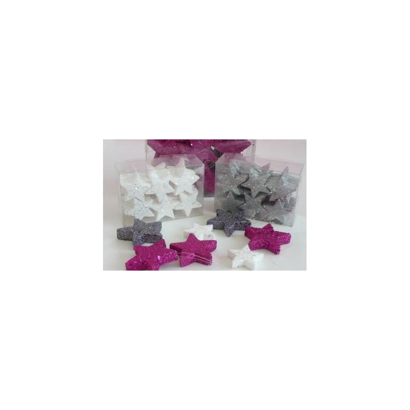 Étoile pleine paillette à suspendre multicoloris D. 7 cm