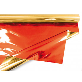Papier métal bicolore 30µ multicoloris emballage décoratif