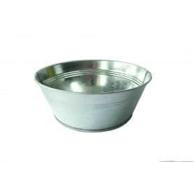 Coupe ronde zinc naturel - grossiste fleuriste