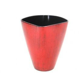 Pot phaléno plastique rouge antique D 11 x H. 14 cm