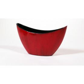 Barque polypro rouge antique petit modèle L. 20 x l. 9 x H. 11,5 cm