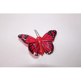 Papillons sur pics multicoloris L. 5 cm